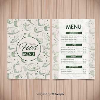 Здоровый шаблон меню