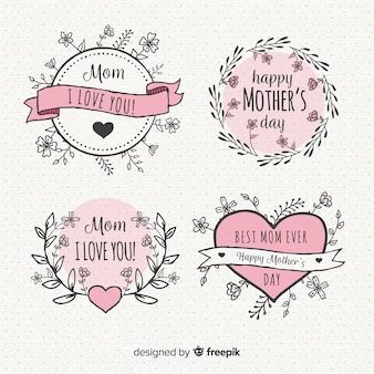 Коллекция значков день матери