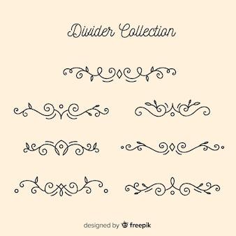 手描き飾りディバイダーコレクション