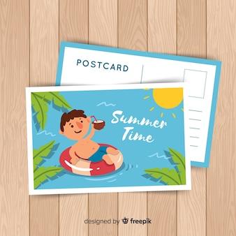 Летняя праздничная открытка