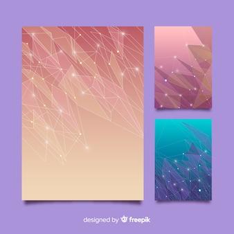 Коллекция шаблонов брошюры красочные технологии