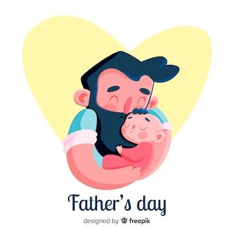 平らな父の日の背景