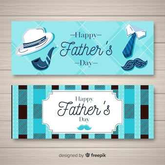 Нарисованные от руки баннеры дня отца