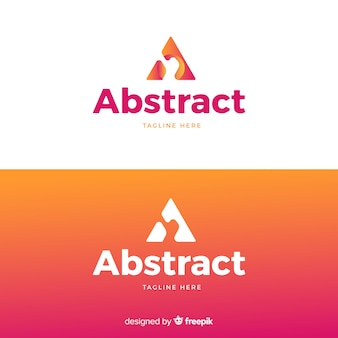 グラデーションスタイルの抽象的なロゴ