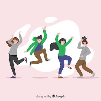 Ручной обращается люди танцуют пакет
