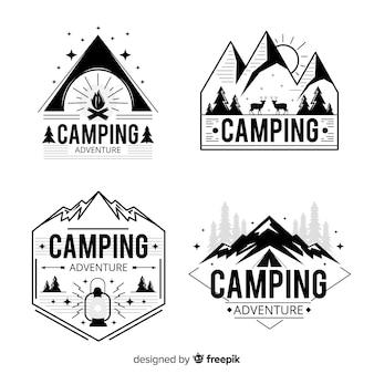 Винтажная коллекция логотипов приключений