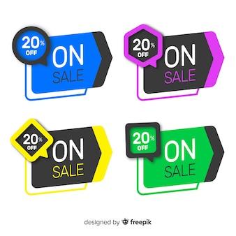 幾何学的販売バナーコレクション