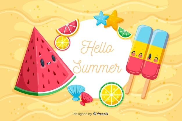 Привет летний фон