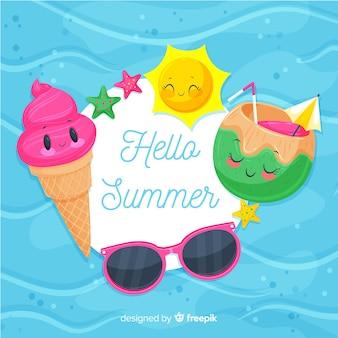 こんにちは夏の背景