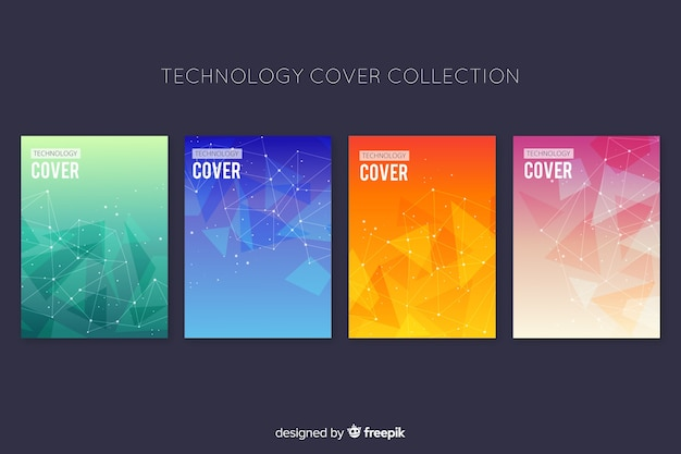 Пакет брошюр в стиле технологии