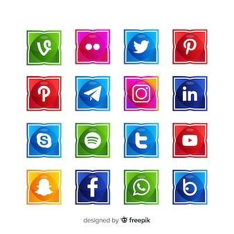 Коллекции логотипов в социальных сетях