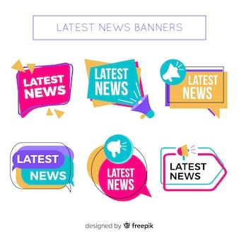 Красочные плоские последние новости баннер