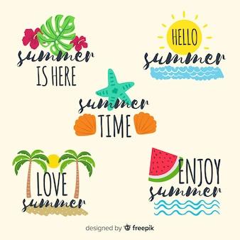 Коллекция летних значков