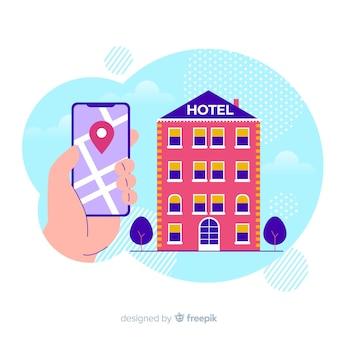 フラットホテル予約の背景