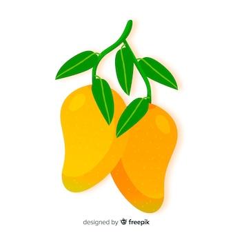 手描きマンゴーの背景