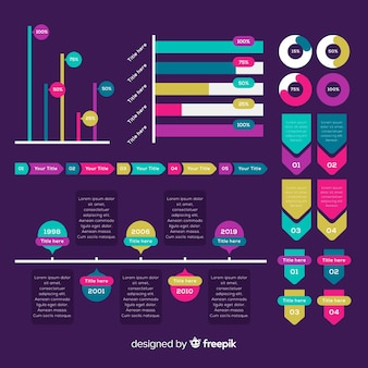 インフォグラフィックモダンな要素のコレクション