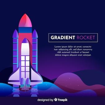 グラデーションロケットの背景テンプレート