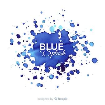 青い水彩スプラッシュバックグラウンド