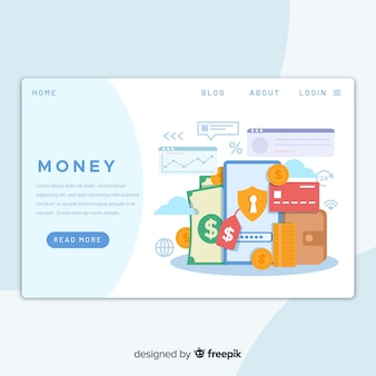Целевая страница концепции денег