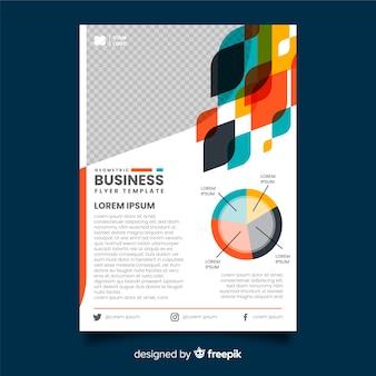 幾何学的なビジネスのチラシテンプレート