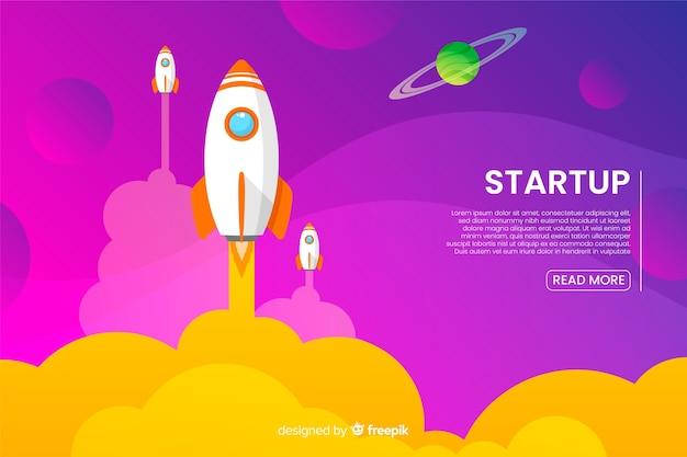 Шаблон целевой страницы с ракетой