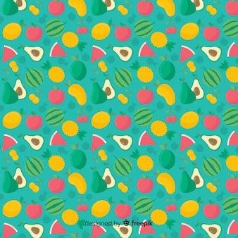フラットトロピカルフルーツパターン