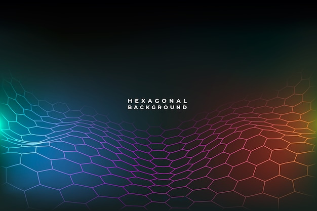 未来的な六角形ネットの背景
