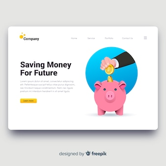 お金の概念のランディングページ