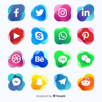 グラデーションソーシャルメディアのロゴコレクション