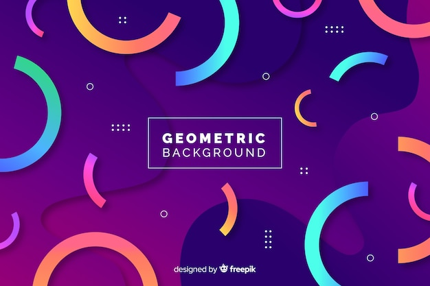 グラデーションの幾何学的な背景