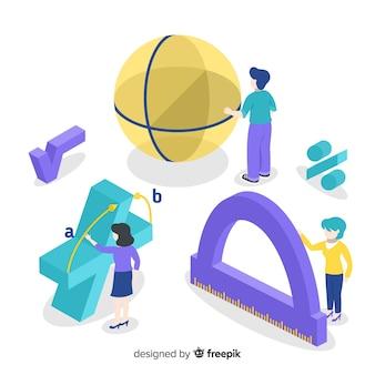 Изометрические математика концепции фон