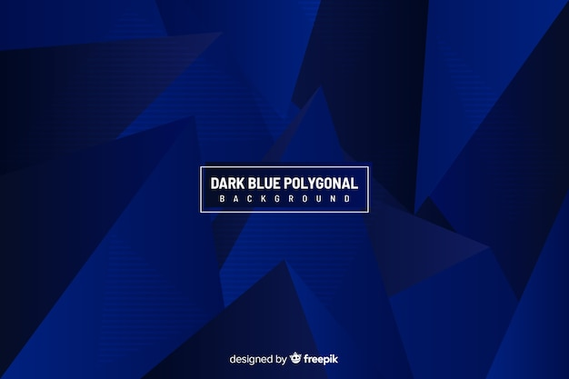 ダークブルーの多角形の背景