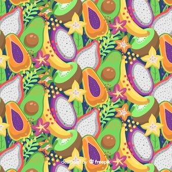 トロピカルフルーツのパターン