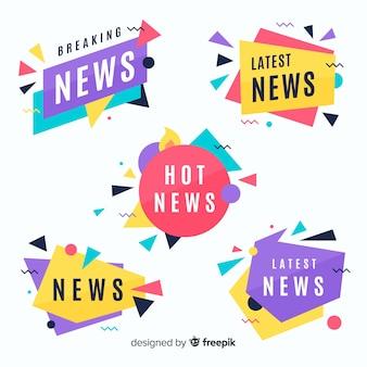 Красочный последний новостной баннер