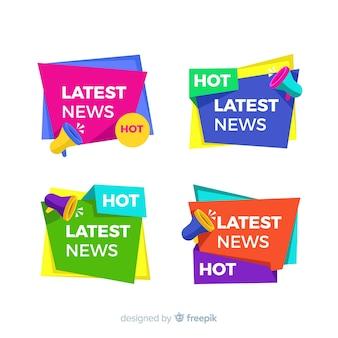カラフルな最新ニュースバナーパック