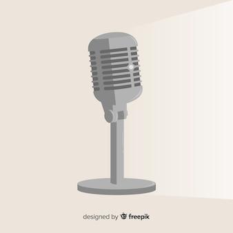 Плоский ретро микрофон