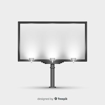 Реалистичный рекламный щит фон