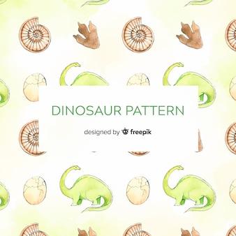 水彩恐竜パターン
