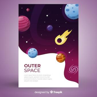 グラデーション宇宙空間カバー
