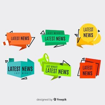 カラフルな最新ニュースバナー