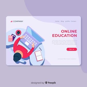 Плоская онлайн образовательная целевая страница