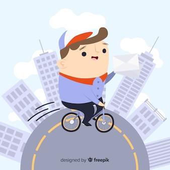 自転車配達のコンセプト