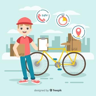 Концепция доставки велосипедов