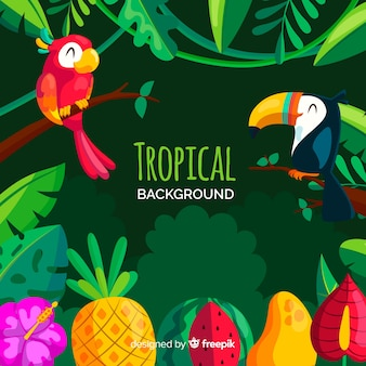 熱帯の背景