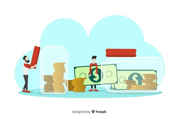 フラットお金節約の概念の背景