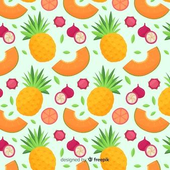Красочные тропические фрукты шаблон