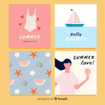 Креативные летние открытки