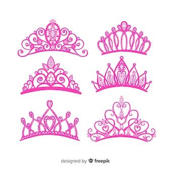 Плоская принцесса тиара коллекцион