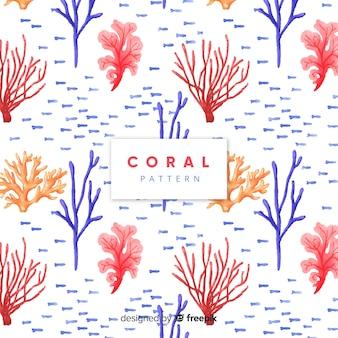 Акварельный рисунок кораллов