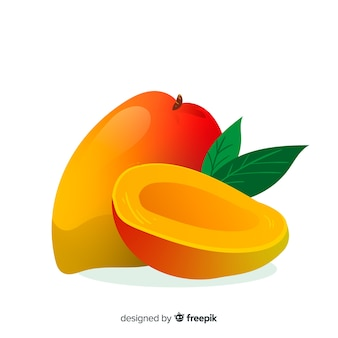 Рисованной иллюстрации манго